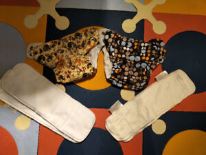 2x Funky Fluff One Size Cloth Diapers - barely used
