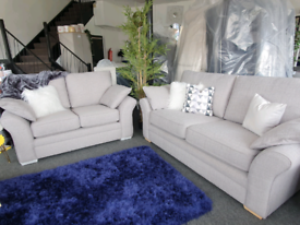 BRAND NEW Abbey Light Grey 3 + 2 Seater Sofa DELIVERY AVAILABLE
