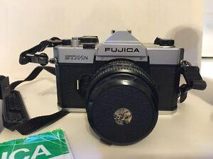 Fuji Fujica STX-1N SLR camera with three lenses and flash Stratford Kitchener Area image 6