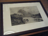 """Old Print """"Morning In The Highlands"""""""