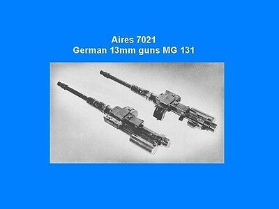 Aires 7021 1/72 German 13mm MG131 Gun 4 Resin