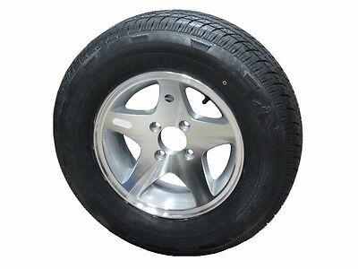 *2* Rainier ST175/80R13 Radial Trailer Tire & Series 04 Aluminum Wheel 4-4.0 LRC