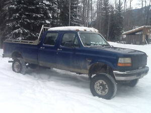 Low Kms on 1997 F-350 7.3 liter diesel with brand new tranny Prince George British Columbia image 2