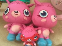 3 X as new moshi monsters soft toys