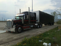 2007 western star tractor & 2007 manac flatbed with rolling kit