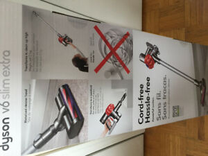 Dyson V6 slim extra new sealed box vacuum cleaner & accessories