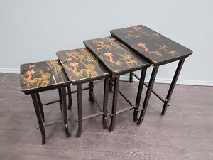 Set of 4 Antique Nesting Tables