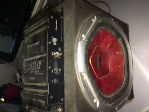 Sony xplod 1200w subwoofer and pioneer 200w mosfet power supply