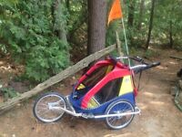 Double Chariot Jogging Stroller with Bike Trailer attachment