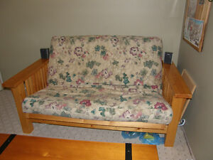 Solid Pine Futon Love Seat w/chairs
