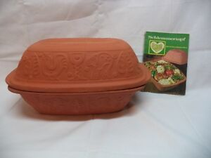 SCHLEMMERTOPF Germany Clay Baker Roaster with Recipes in German