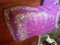 Purple saree Asian clothes