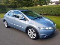 HONDA CIVIC 1.8 i-VETEC (SE) - 5 DOOR - 2006 - BLUE ** LEATHER INTERIOR **
