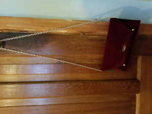 Guess burgandy suede purse