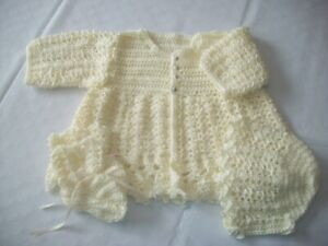 BRAND NEW HAND CROCHETED 4pc BABY SWEATER SETS