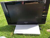 Samsung 32'' tv with jvc DVD player