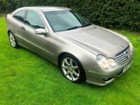 2008 Cubanite Silver Mercedes-Benz C220 2.1TD AUTO CDI SE COUPE CHEAP MERC