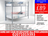 SINGLE METAL BUNK.BED