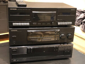 Kenwood stereo system with cassette deck and cd player