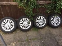 """Renault Clio 2010 SET OFF 15""""Inch Alloy Wheels With Tyres 185/60/15R"""