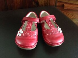 Girls clarks 5g red shoes infant