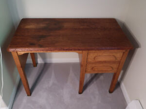 Vintage Oak desk with matching chair, circa 1940s