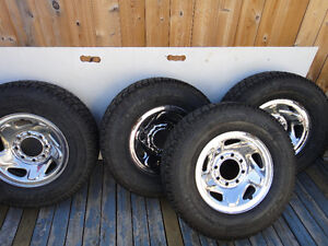 LT 245 75 R16 3/4 ton Studded winter tire and rims