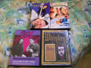 SKATEBOARDING VHS & DVD LOT CKY WHISKEY LORDS OF DOGTOWN,look