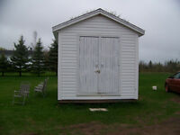 10 X 16 STORAGE SHED WITH WIDE DOORS