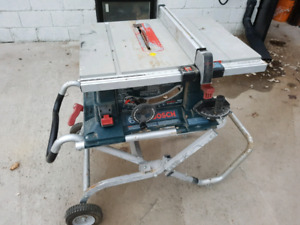 "10"" bosch 4000 table saw with stand."