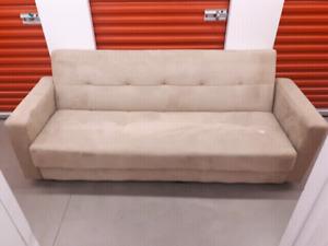 Delivered fold-down sofa