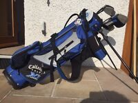 Callaway junior golf clubs (4) and bag