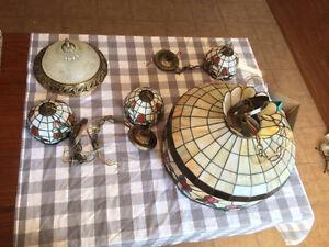 Lampes de cuisine suspendues de style Tiffany ''vintage''