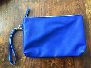 Never been used blue clutch or makeup bag