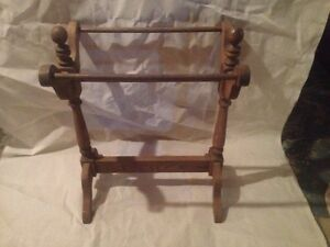 Oak blanket rack London Ontario image 2