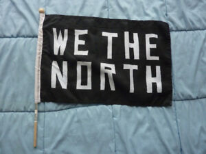 "TORONTO RAPTORS - We The North - Stick Flag - 18"" - Brand New"