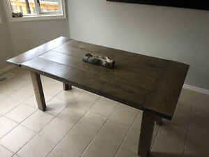 Rustic Grey Barn wood style dining table - $550 OBO