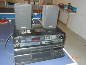 Stereo AM/FM receiver and CD player