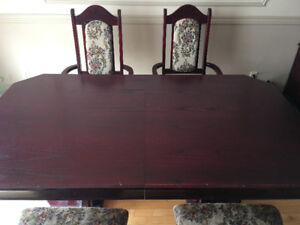 Dining Table set - Italian - Maroon
