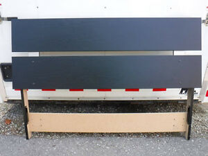 "Queen /full double . black headboard , 67 1/2 w x 45"" tall screw"