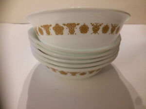 Vintage Corelle Gold Butterfly dishes