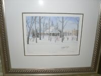 ONTARIO print double signed by Artist