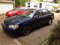 2001 Toyota Corolla for parts or repair