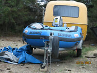 very safe reliable sturdy boat, motor and trailer for sale