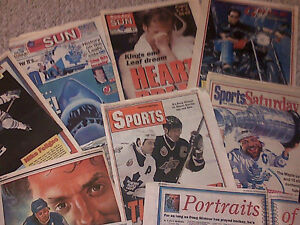 1993 TORONTO MAPLE LEAFS FANS NEWSPAPER SCRAPBOOK COLLECTION WOW Cambridge Kitchener Area image 1