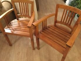 PAIR DINING CHAIRS - two carvers