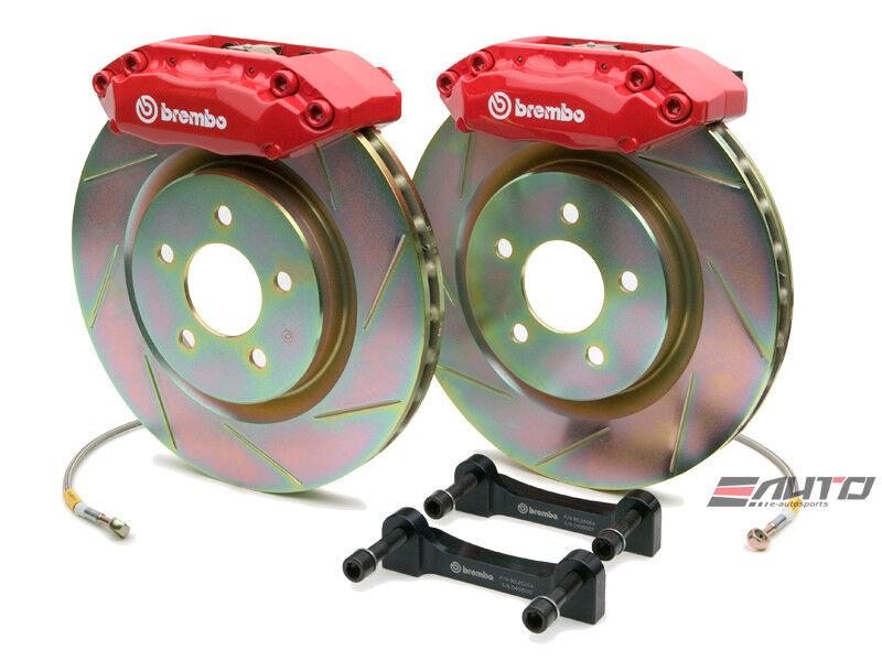 Brembo Front Gt Brake 4pot Red 330x28 Slot Rotor Beetle Golf Gti Jetta Rabbit