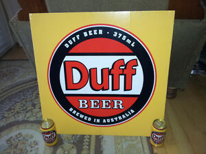 THE SIMPSONS DUFF BEER SIGN AND CANS X 2