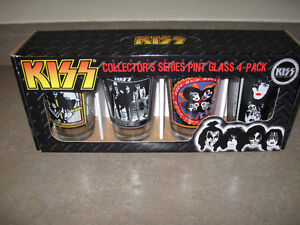 Kiss Collector's Series Pint Glasses 4 Pack-New in box