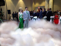 dry ice effect, snow machine, Bubble And laser light